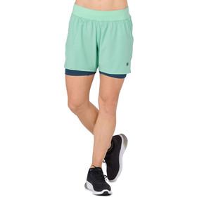asics 2-N-1 5.5In Shorts Women Opal Green Heather